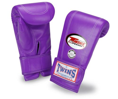 Twins Velcro Wrist Bag Gloves Full Thumb - Purple