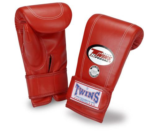 Twins Velcro Wrist Bag Gloves Full Thumb - Red