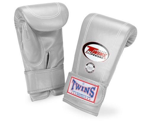 Twins Velcro Wrist Bag Gloves Full Thumb - Silver