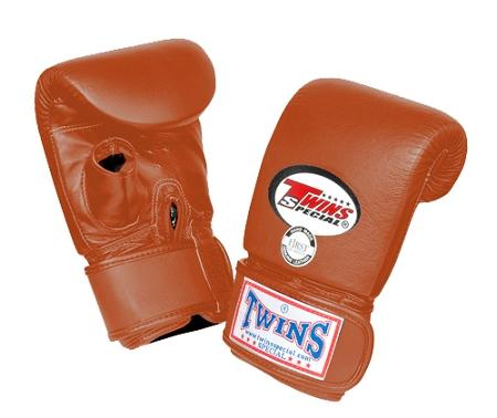 Twins Training Bag Gloves Open Thumb - Brown