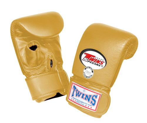 Twins Training Bag Gloves Open Thumb - Gold