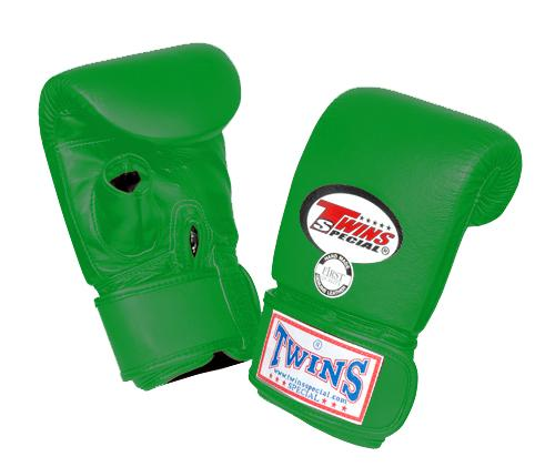 Twins Training Bag Gloves Open Thumb - Green