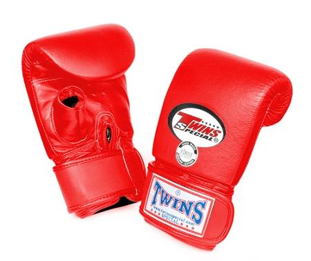 Twins Training Bag Gloves Open Thumb - Red