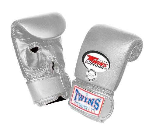 Twins Training Bag Gloves Open Thumb - Silver