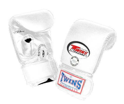 Twins Training Bag Gloves Open Thumb - White