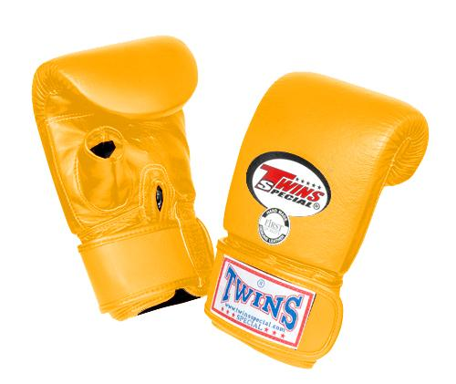 Twins Training Bag Gloves Open Thumb - Yellow