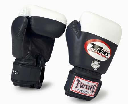 Twins Boxing Gloves - Black - Premium Leather- Amateur International Competition