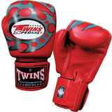 Twins Tiger Boxing Gloves- Red Premium Leather