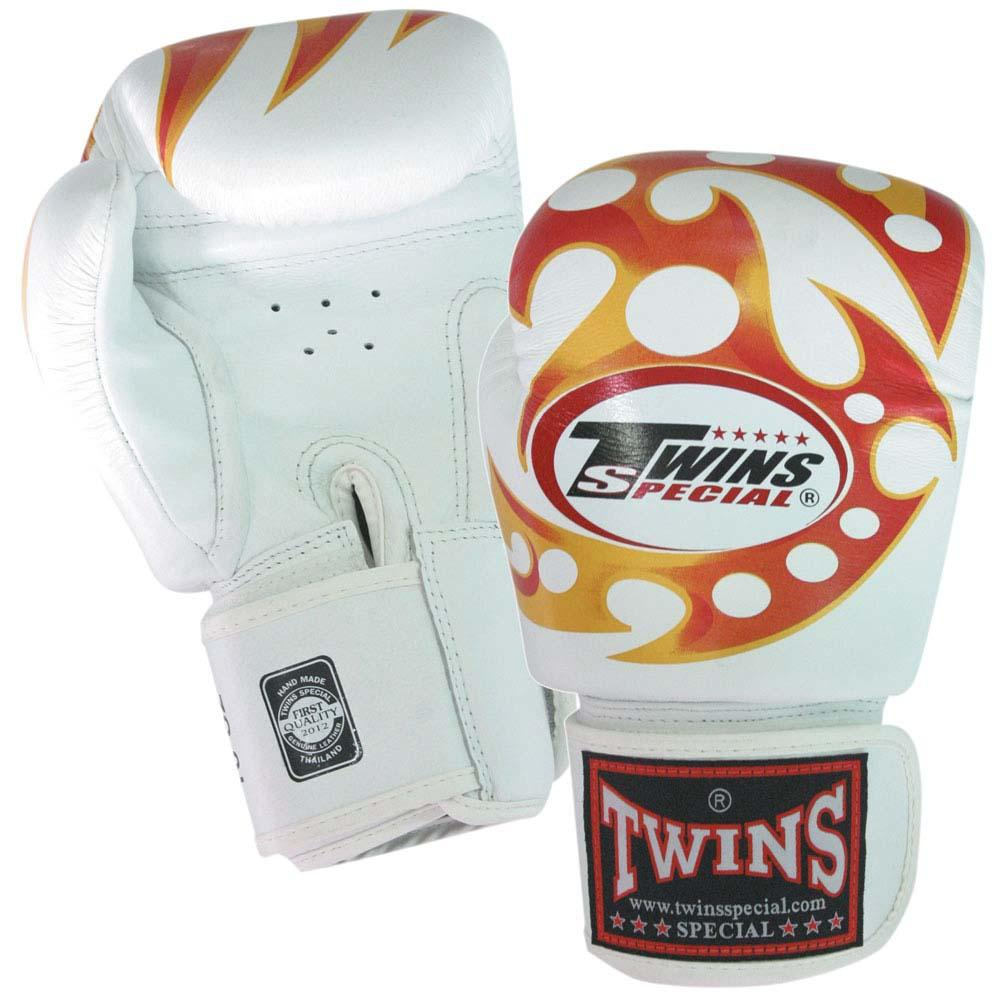 Twins Tiger Boxing Gloves- White Premium Leather