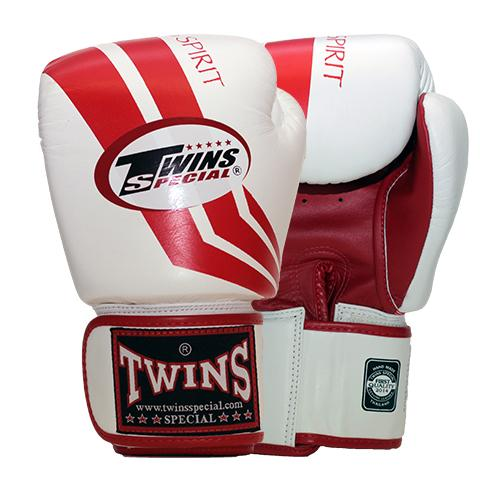Twins Fighting Spirit Boxing Gloves- White- Premium Leather