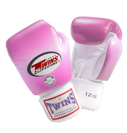 Twins Horizontal Slide Boxing Gloves- Pink - Premium Leather
