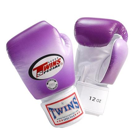 Twins Horizontal Slide Boxing Gloves- Purple - Premium Leather