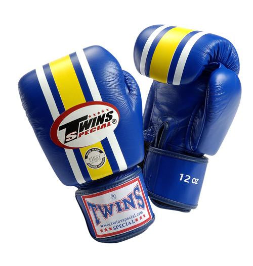 Twins Lumpini Boxing Gloves - Blue - Premium Leather