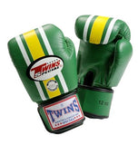 Twins Lumpini Boxing Gloves - Green - Premium Leather
