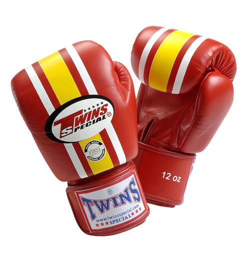 Twins Lumpini Boxing Gloves - Red - Premium Leather