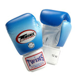 Twins Horizontal Slide Boxing Gloves- Blue - Premium Leather