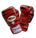 Twins Tiger Boxing Gloves- Red Black Premium Leather