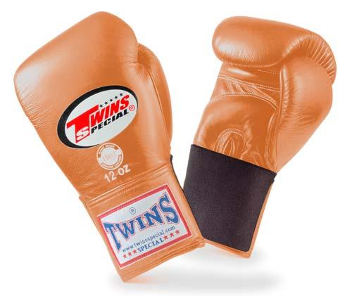 Twins Special Brown Boxing Gloves- Premium Leather w/ Elastic