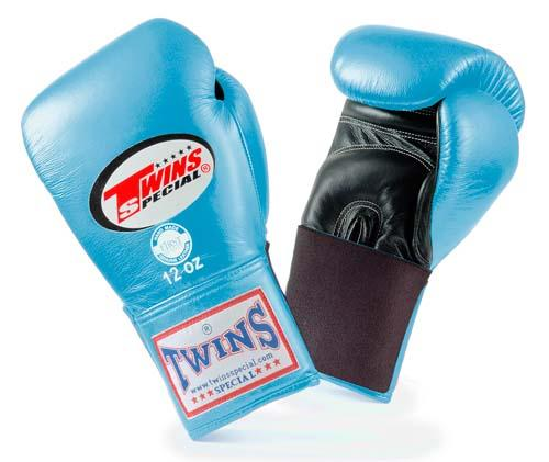 Twins Special Boxing Gloves- Dual Colors - Black - Orange - Premium Leather w/ Elastic