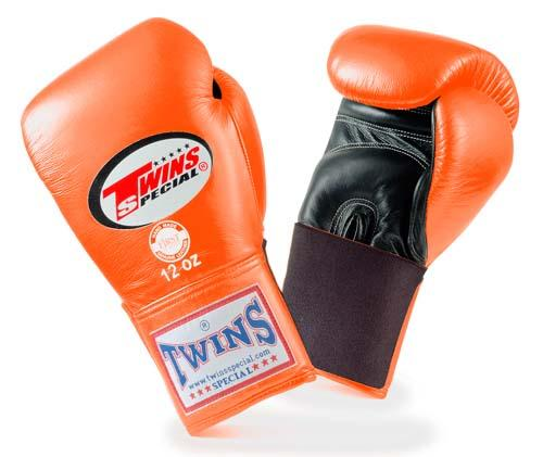 Twins Special Boxing Gloves- Dual Colors - Black - Pink - Premium Leather w/ Elastic