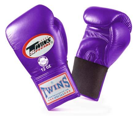 Twins Special Purple Boxing Gloves- Premium Leather w/ Elastic