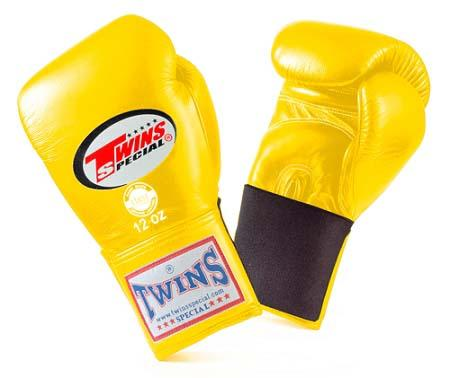 Twins Special Yellow Boxing Gloves- Premium Leather w/ Elastic