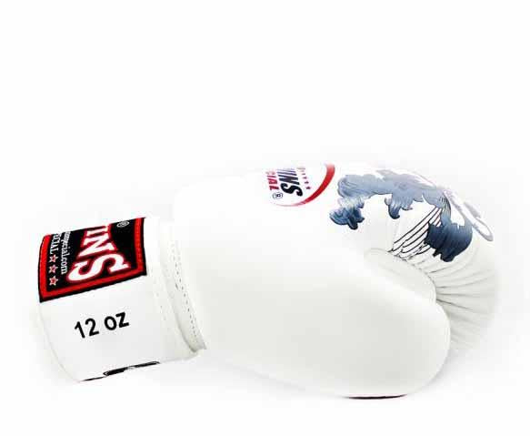 Twins Pink-White Signature Boxing Gloves - Velcro Wrist - Image 3