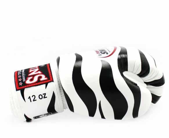 Twins Black-White Signature Boxing Gloves - Velcro Wrist - Image 3