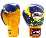 Twins Brazil Signature Boxing Gloves - Velcro Wrist - Image 1