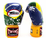 Twins Brazil Signature Boxing Gloves - Velcro Wrist - Image 2