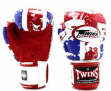 Twins Boxing Gloves - UK Flag - Twins Boxing Gloves & Muay Thai Gloves - Red, White, Blue