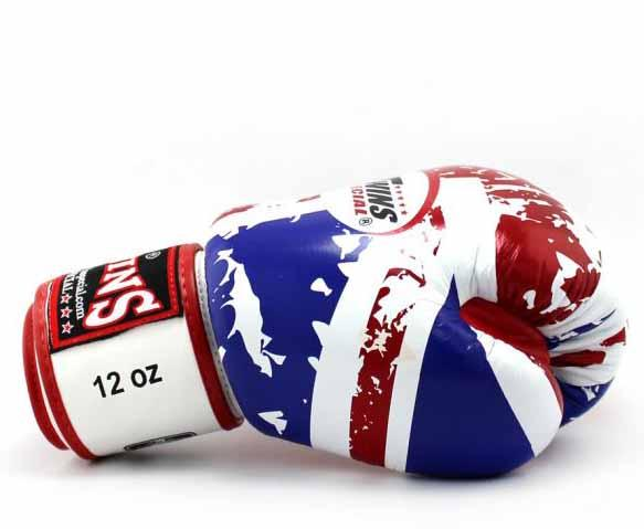 Twins United-Kingdom Signature Boxing Gloves - Velcro Wrist - Image 3