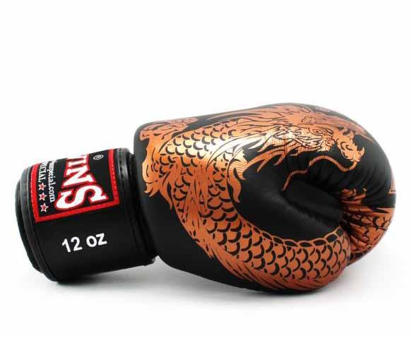 Twins Copper-Black Signature Boxing Gloves - Velcro Wrist