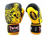 Twins Yellow Signature Boxing Gloves - Velcro Wrist