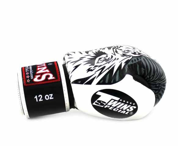 Twins White Signature Boxing Gloves - Velcro Wrist