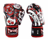 Red De Los Muertes Twins Boxing Gloves - Velcro Wrist - Image 1