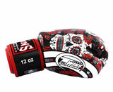 Red De Los Muertes Twins Boxing Gloves - Velcro Wrist - Image 3