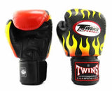 Twins Black Signature Boxing Gloves - Velcro Wrist - Image 1