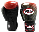 Twins Red Signature Boxing Gloves - Velcro Wrist