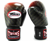Twins Red Signature Boxing Gloves - Velcro Wrist - Image 2