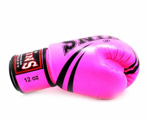 Twins Pink Signature Boxing Gloves - Velcro Wrist