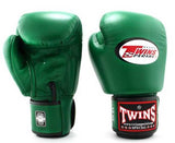 Dark-Green Twins Boxing Gloves - Velcro Wrist - Image 1