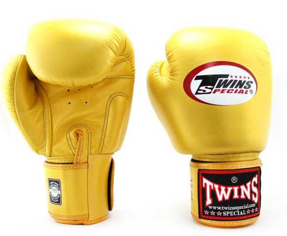 Gold Twins Boxing Gloves - Velcro Wrist - Image 1