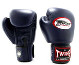 Navy Twins Boxing Gloves - Velcro Wrist - Image 1