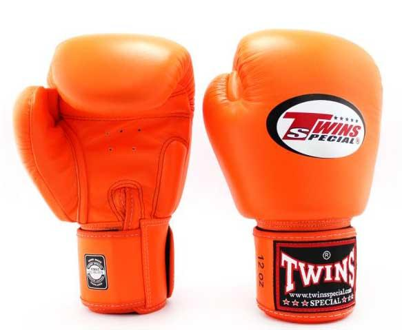 Orange Twins Boxing Gloves - Velcro Wrist - Image 2