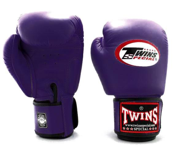 Purple Twins Boxing Gloves - Velcro Wrist - Image 1