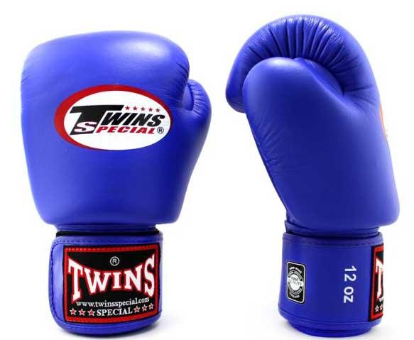 Blue Twins Boxing Gloves - Velcro Wrist