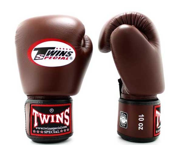 Dark-Brown Twins Boxing Gloves - Velcro Wrist - Image 2