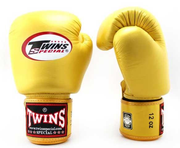 Gold Twins Boxing Gloves - Velcro Wrist - Image 2