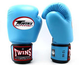 Light Blue Twins Boxing Gloves - Velcro Wrist - Image 1